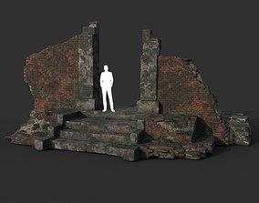 Low poly Ruin Construction A05 200714 3D asset