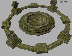 3D asset temple 3