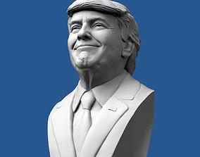 Donald Trump Bust 3D printable model figurines