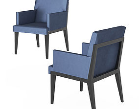 Hampton dinning chair by Holly Hunt 3D model