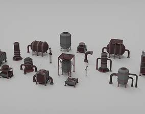 Rooftop pack - 17 Pieces 3D model