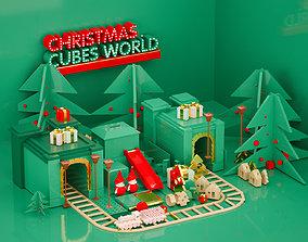 3D Christmas Art Exhibition Mall DP Christmas Art