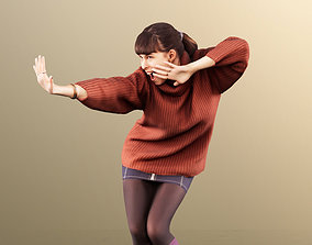 Alyssa 11525 - Young Woman Dancing 3D asset