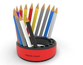 3D model animated Pencil holder