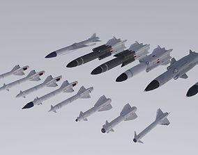 USSR rockets pack 3D asset