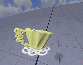 Cocoa Cup on Doily 3D model