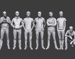 3D asset Lowpoly People Casual Pack Volume 20