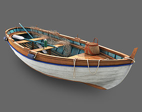 painted 3D model fishing boat