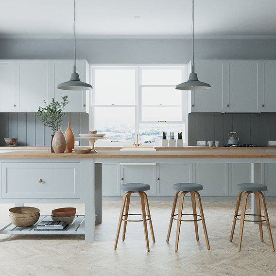 French Style Kitchen Interior