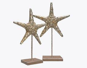 3D model Sea star sculpture