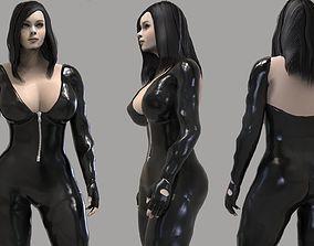 3D asset Action Girl