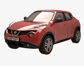Nissan Juke 002 Red auto 3D
