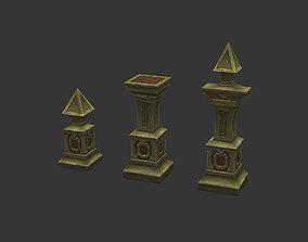 Low Poly Pillar 3D model