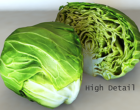 Cabbage high detail 3D model