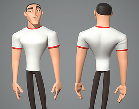 3D Male cartoon character Luke
