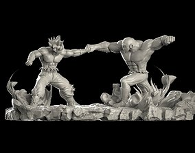 Goku vs Jiren 3D print model
