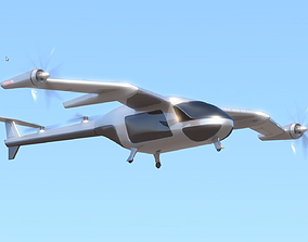 animated Uber Fly Taxi Drone Vray 3d model