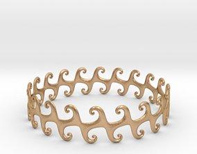 Wavy bracelet 3D print model