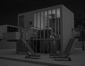 Modern House Scene 3D