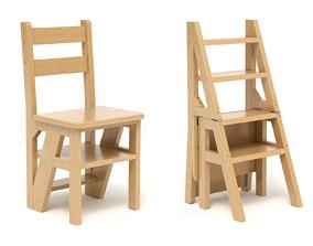 3D model Step Stool Chair