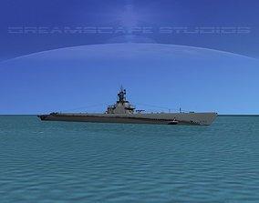 Gato Class Submarine SS245 USS Cobia 3D