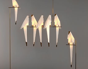3D model Origami Bird light moooi