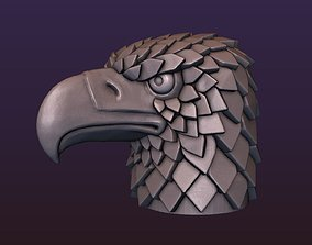 Eagle head stylized 3D printable model