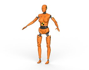Crash Test Dummy Robot Android 3D model Female