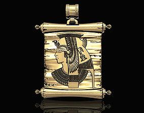 Cleopatra With Parchment-Pendant 3D printable model