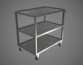 Trolley Stainless Steel PBR Game Ready 3D asset