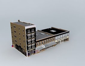 Building Row 3D model