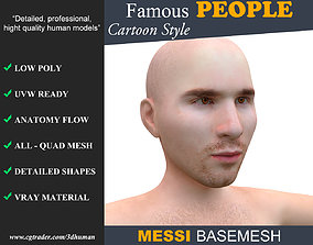 Low poly Character Cartoon Basemesh - Lionel 3D asset