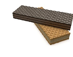 Wafer with Cream 3D model