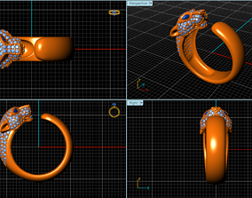 3D printable model panther ring newdesign