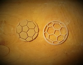 3D printable model Soccer ball cookie cutter