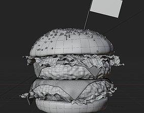 Cheeseburger 3D model realtime