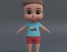 Baby 3d model VR / AR ready