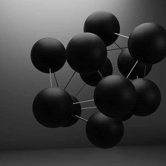 Black balloons background
