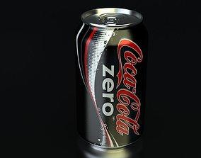 3D model drink CocaCola Zero Pan