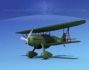 Curtiss P-6E Hawk V09 3D