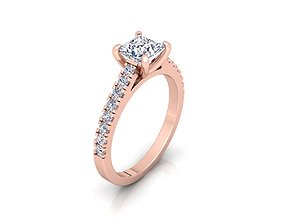 Solitaire Ring 04 3D print model