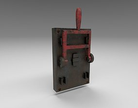 Rusted lever switch 3D model
