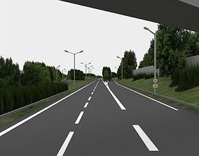 highway navigation 3D road game-ready