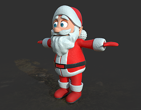Santa claus 3D asset low-poly happy