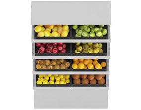 3D model Market Shelf - Fruits