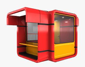 Modern Kiosk 3D asset