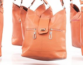 3D model Orange Leather Handbag