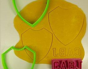 3D model Cutter cookie Boca Jrs soccer Cortante futbol 2