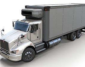 3D asset game-ready Kenworth t440 box truck