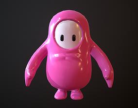 3D asset Fall Guys - Pink Model